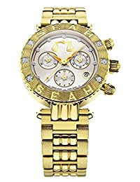 Seah Galaxy Zodiac sign Libra Unisex watch. Limited Edition, 38mm Yellow Gold-Tone Swiss Made Luxury 1/2 carat Diamond Watch.
