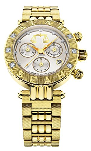Seah-Galaxy-Zodiac-sign-Libra-Limited-Edition-38mm-Yellow-Gold-Tone-Swiss-Made-12-carat-Diamond-Watch