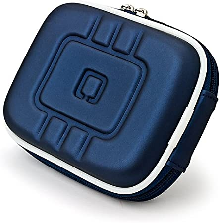 Navy Blue Eva Durable Protective Cover Cube with Mesh Pocket for Canon Power Shot Point and Shoot Digital Camera