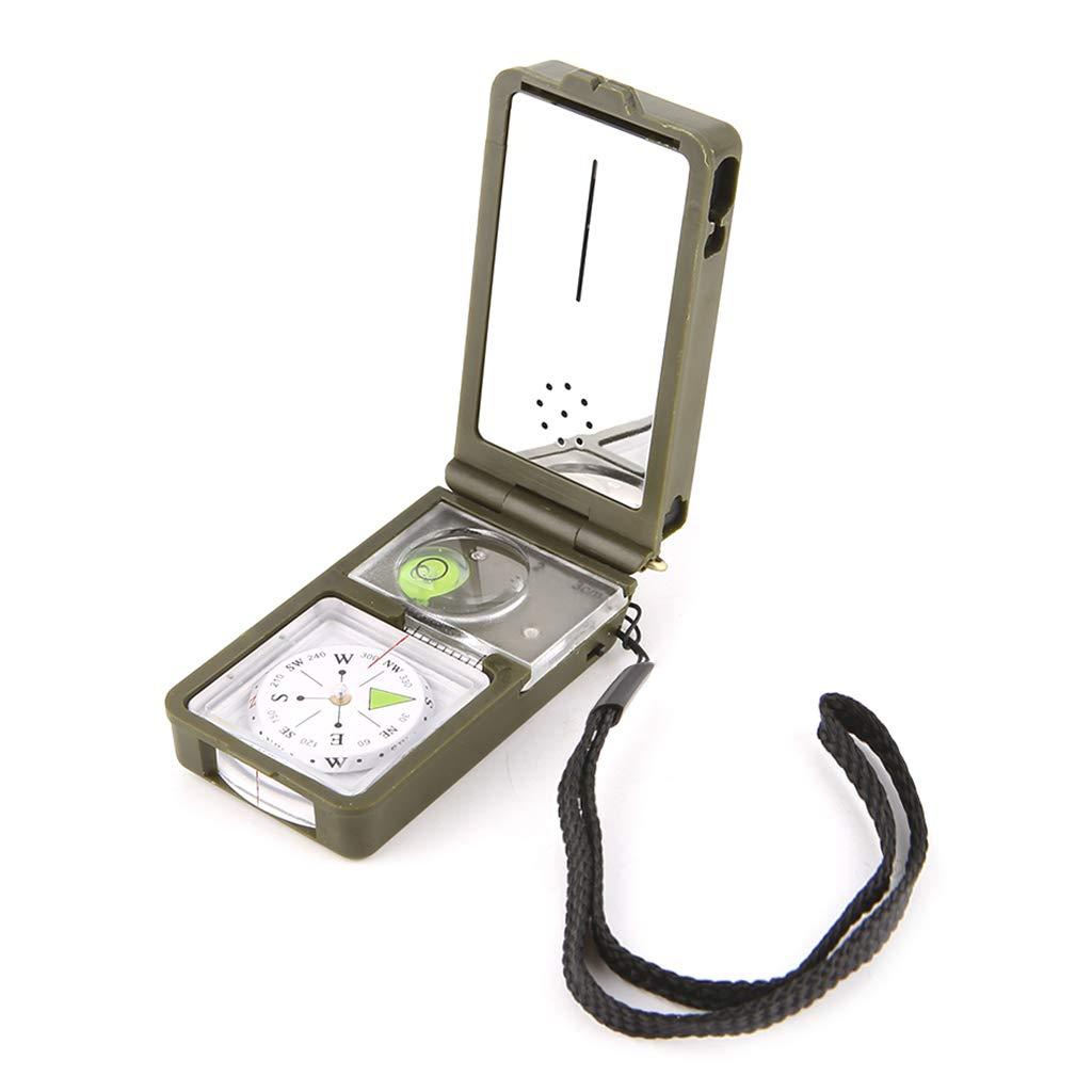 ruiruiNIE Outdoor Survival Military Camping Senderismo Br/újula Kit de Herramientas Combinaci/ón Compass Kit 10-en-1 multifunci/ón