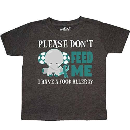inktastic Please Dont Feed Me I Have a Toddler T-Shirt 2T Retro Heather - Food Allergies Toddlers