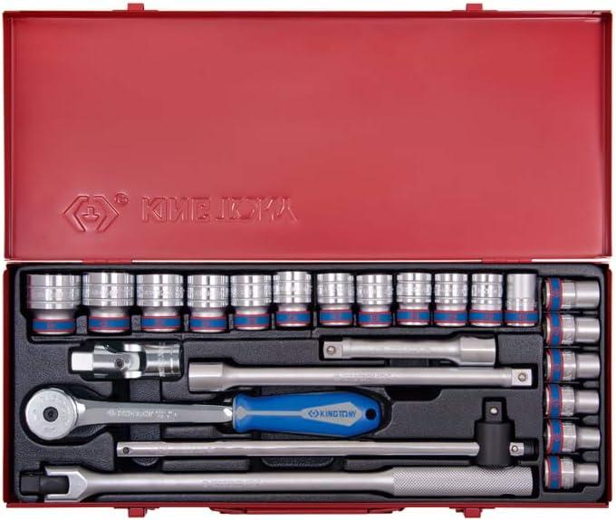1//2 Set de 24 king tony 4526MR04 Coffret de Douilles M/étriques et Accessoires