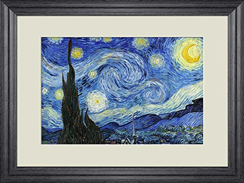 Creative 3D Visual Effect Wall Mural Starry Night by Vincent Van Gogh Peel Stick Wall Decor
