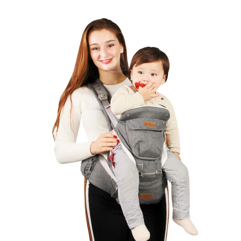 75cm o Mas Alto M/últiples Posiciones para Beb/és. 6-36 Meses JooBebe Baby Carrier//Mochilas Portabeb/és Ergon/ómico Dise/ñado//Manos Libres para Todas las Estaciones 6 en 1 Convertible