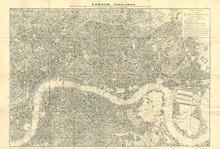 Charles Booth London Map Pubs Restaurants Churches Schools