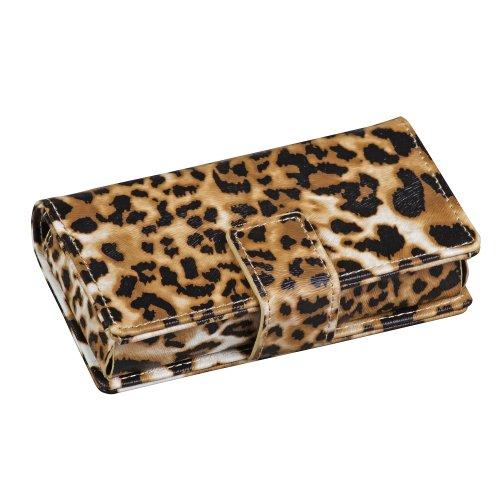 HealthSmart Fashion Travel Pill Case 7 Day Pill Reminder Organizer Box, Leopard