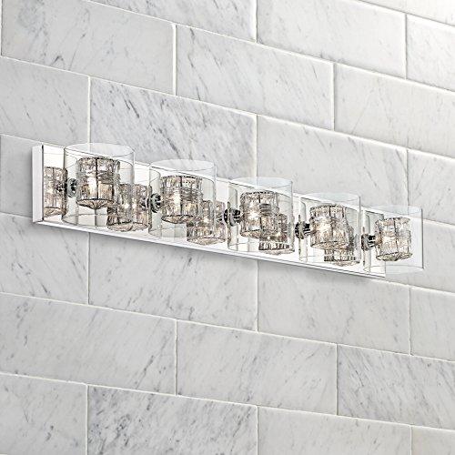 Possini Euro Design Wrapped Wire 39 Wide Bathroom Light New