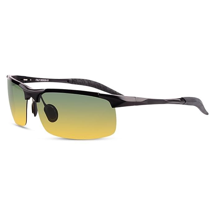 Gafas de sol de aluminio magnesio/Gafas de sol polarizadas de los hombres/Día