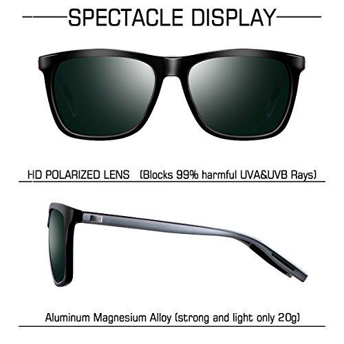 y Protección Wayfarer Retro Clásico de Hombre UV400 Polarizadas wearPro Sol WP2003 Gafas Verde para Mujer 7z5dqq