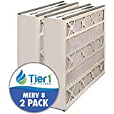 Tier1 20x20x5 MERV 8 Trion / Air Bear 255649-103 & 259112-103 Comparable Air Filter - 2PK