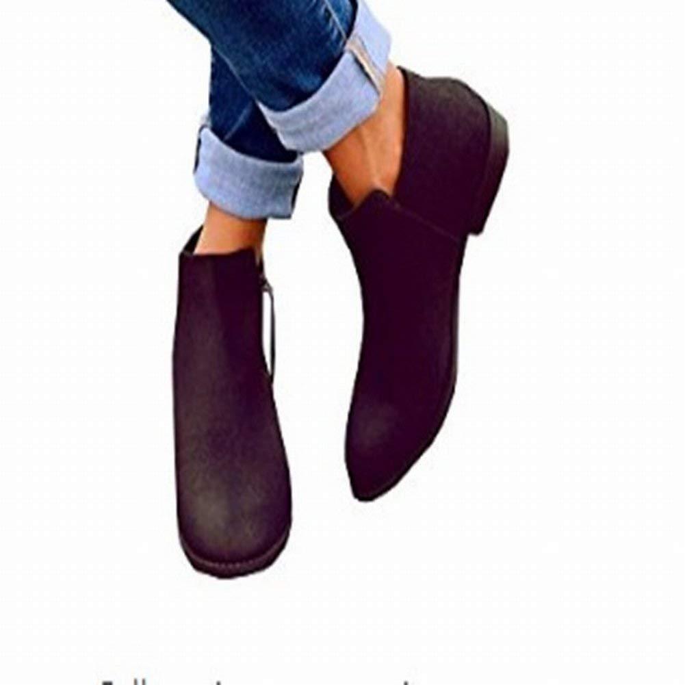 Fuxitoggo Damenschuhe Der Großen Größe Flacher Seitlicher Reißverschluss Der Der Der Flachen Schuhe Frauen (Farbe   Schwarz Größe   37) cfc782