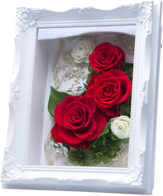 Conserva Portaretrato Flor/Adornos Flor Eterna/Salón Mesa Decoración Flor Marco: Amazon.es: Hogar