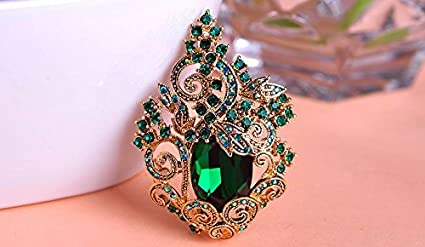 880b2fb72cf 1pc Luxurious Vintage Retro Topaz Large Luxury Crystal Flowers Brooches  Bouquet Women Collares Christmas Brooch Pins