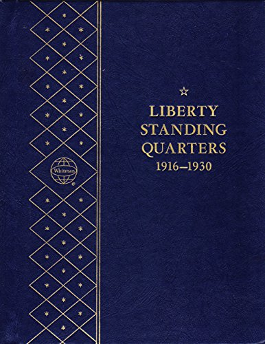 1916-1930 LIBERTY STANDING QUARTERS USED WHITMAN BOOKSHELF SERIES # 9417★ COIN; ALBUM, BINDER, BOARD, BOOK, CARD, COLLECTION, FOLDER, HOLDER, PAGE, PORTFOLIO, PUBLICATION, SET, VOLUME