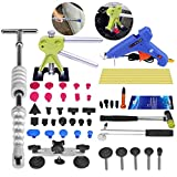 Super PDR 40pcs Car Body Hail Ding Damdge Dent Repair Removal Tool Kits Silde Hammer Glue Puller Tool Kits