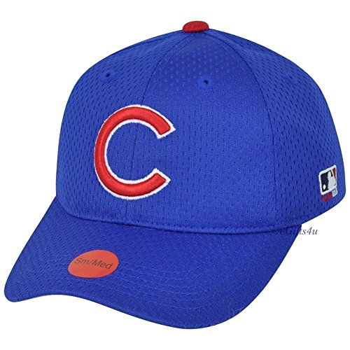 MLB Mesh Flexfit Chicago Cubs Home Hat Cap Stretch Fitted Youth ... c563032fc0a