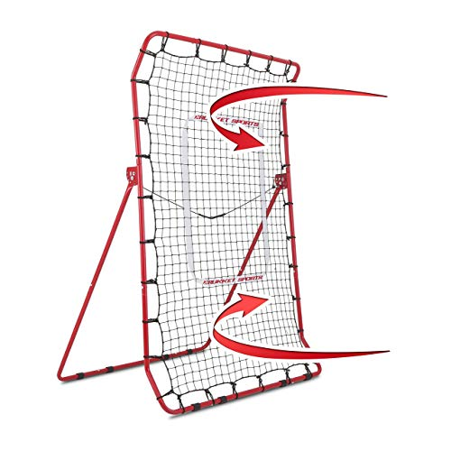 (Rukket Pitch Back Baseball/Softball Rebounder PRO | Pitching and Throwing Practice Partner | Adjustable Angle Pitchback Trainer)