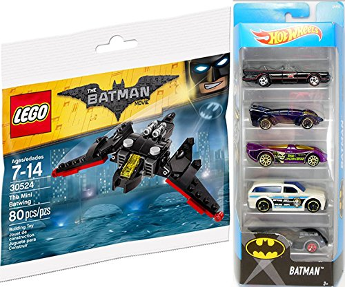 [Hot Wheels 2017 Batman 5-Pack Batmobile TV Series / Live / Gotham City Police / Joker / Arkham Asylum + DC Comics Lego Batwing] (The Jetson Family Costumes)