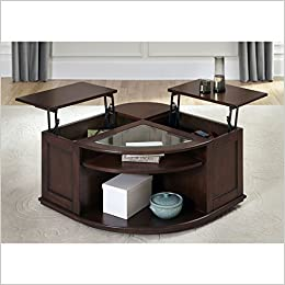 Wallace Dark Toffee Lift Top Cocktail Table Amazon Com Books
