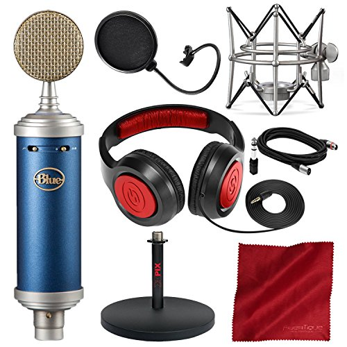 Blue Microphones Bluebird SL Large-Diaphragm Condenser Microphone with Closed-Back Headphones, XLR Cable, and Deluxe Bundle