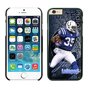 Indianapolis Colts Joe Lefeged iPhone 6 Plus NFL Cases Black 5.5 Inches NIC12928