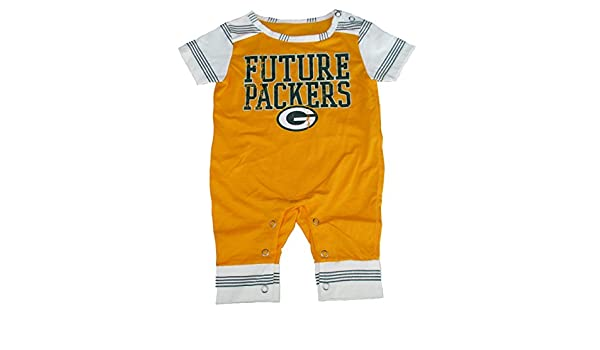 5176a151 Amazon.com: Green Bay Packers FUTURE PACKERS Romper Infant Size 0-3 ...
