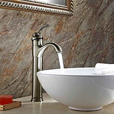 Brushed Nickel Vessel Sink Bathroom Faucet Lavatory Single-handle