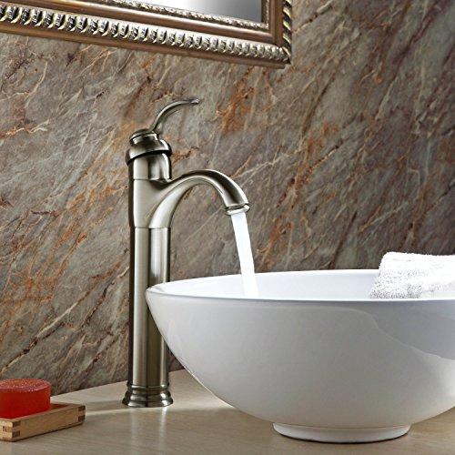 GotHobby Brushed Nickel Vessel Sink Bathroom Faucet Lavatory Single-handle