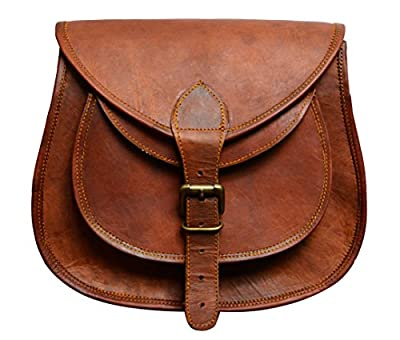 ALBORZ vintage handcrafted leather Side sling bag for Women 7L x 9H x 3W inch