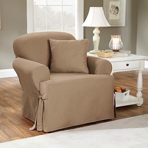 Amazoncom Sure Fit Duck Solid TCushion Chair Slipcover