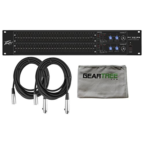 (Peavey PV 231EQ Dual 31-Band Graphic EQ (Black) w/Polish Cloth and 2 Cables)