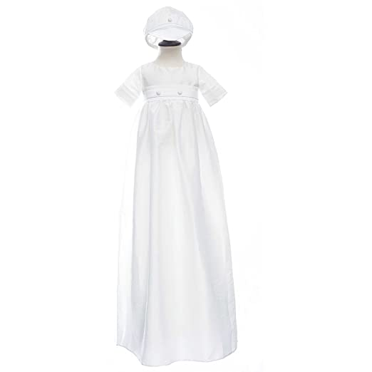 68e21b0c576 Amazon.com  Moon Kitty Baby Boys2PCS Long Christening Outfits ...