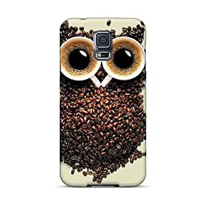 Anti-Scratch Hard Cell-phone Cases For Samsung Galaxy S5 With Support Your Personal Customized Lifelike Coffee Owl Pictures 88bestcase