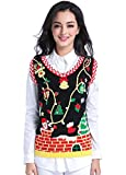 Women Christmas Sweater, V28 Ugly Cute Deer Vintage Knit Xmas Pullover Sweater