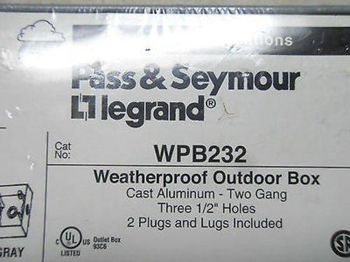 1 New Pass & Seymour Wpbd232 Weatherproof Outdoor Box (E9) by Pass & Seymour