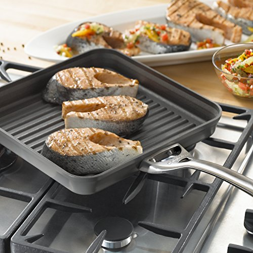 Calphalon Contemporary Hard-Anodized Aluminum Nonstick Cookware, Square Grill Pan, 11-inch, Black by Calphalon (Image #3)
