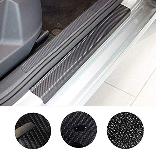 4PCS 3D Carbon Fiber Welcome Pedals Sill Guards Anti-kick Scratch Door Kick Guard Threshold Sticker for Dodge Durango Journey Grand Caravan