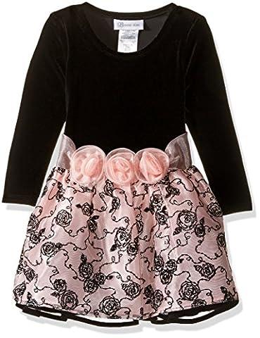 Bonnie Jean Girls' Hipster Dresses, Pink, 4 - Girls Pink Floral Denim