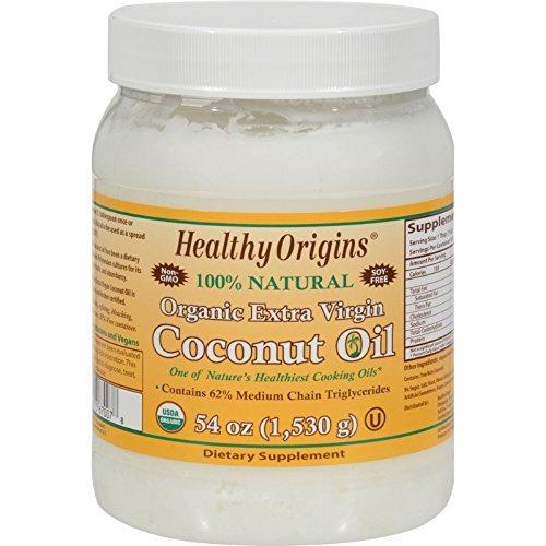 Healthy Origins Coconut Oil, Organic Extra Virgin, 54 FZ (Pack of 12)