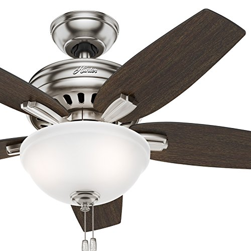 Hunter Fan 42 inch Brushed Nickel Ceiling Fan with a CFL Light Kit (Renewed) (Brushed Nickel)