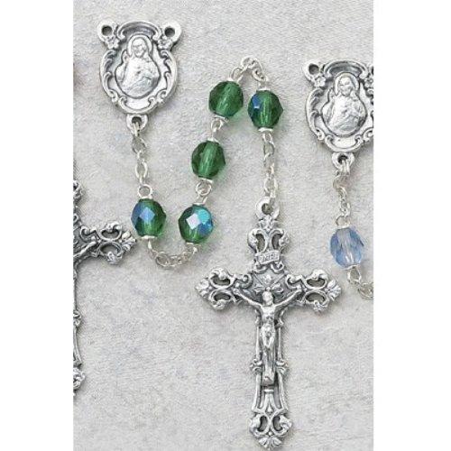Peridot Crucifix (Peridot Rosary w/ Sacred Heart of Jesus)