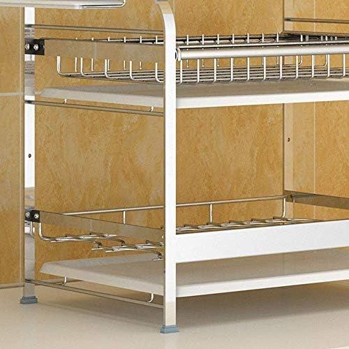SMX Cocina Hardware Colección Rejilla Secadora de Acero Inoxidable Montado en la Pared o de pie sobre la Rejilla de Drenaje (Size : 2 Layers): Amazon.es: Hogar