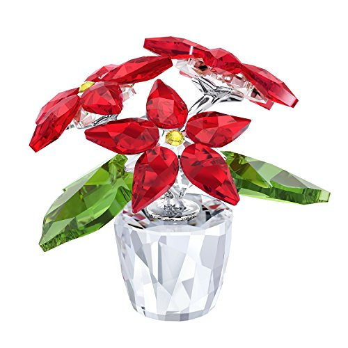 - Swarovski Crystal Poinsettia, Small, Clear,Red and Green