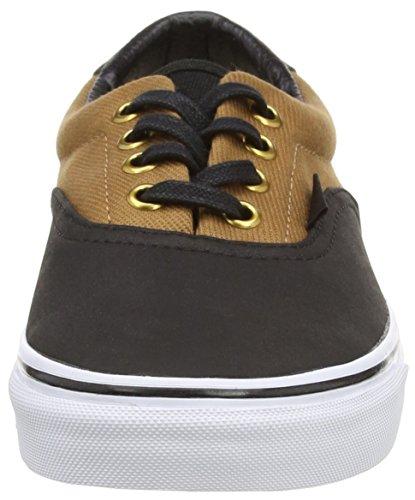 Vans U Era 59 Cork Twill - Zapatillas bajas, unisex negro - Black (T&L - Rubber/Black)