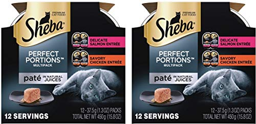 Sheba Perfect Portions Pate Wet Cat Food Trays - Seafood
