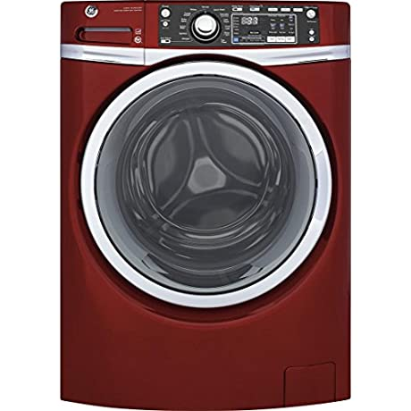GE GFW480SPKRR 28 Front Load Washer With 4 9 Cu Ft Capacity 13 Wash Cycles In Ruby Red