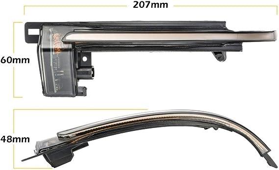Iiwoj Spiegelblinker Auto Dynamische Led Blinkerleuchten Passend Für Au Di A4 A5 B8 A3 8p Q3 A6 C6 4f S6 Sq3 A8 D3 8k 2 Pieces Sport Freizeit