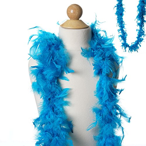 BalsaCircle 6 feet Turquoise Large Feathers Boa - Costumes Gifts Dress Up Kids Party Wedding Accessories