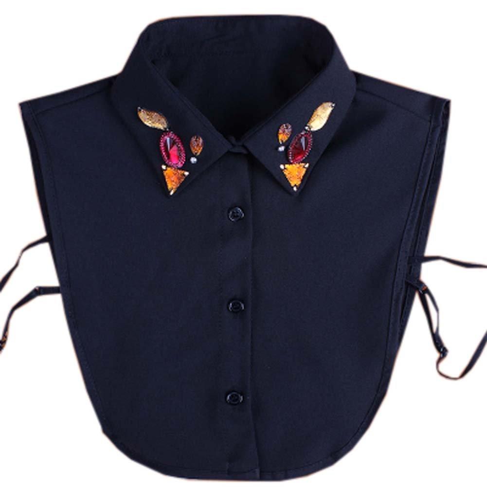 Black Temptation Sweet Abnehmbare Kragen Charming Falsche Halsbä nder Damen-Fake Half Shirt Zubehö r fü r Sweater, 03 GJ-CLO2368383011-HERMINE01994