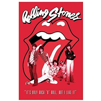 1 x rolling stones tongue and lip logo music poster print prints posters prints. Black Bedroom Furniture Sets. Home Design Ideas